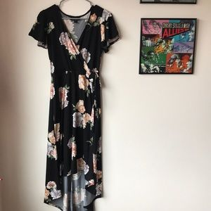 Macy's Floral High Low Dress